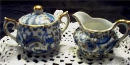 LEFTON Creamer & Sugar Miniatures Hand Painted NE2358 A/B - $24.99