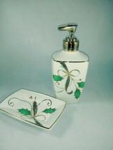 **Lenox Holiday Nouveau Porcelain Soap Lotion  Dispenser Pump and Soap D... - $18.22