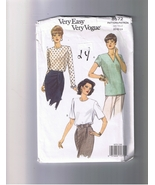 Vogue 8572 - Misses Top - Easy Vogue - Sizes 20... - $5.00
