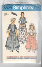 Vintage Simplicity 6828  Colonial Dresses , Two-Piece Dress, Cap and Sha... - $12.99