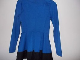 Stanzino Stanzino Women's Coloblock Long Sleeve Round Neck Tunic Peplum Top- Blu image 5