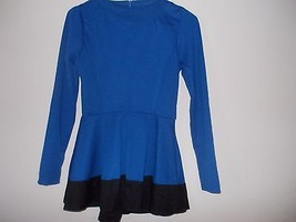 Stanzino Stanzino Women's Coloblock Long Sleeve Round Neck Tunic Peplum Top- Blu image 6