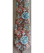 """Oscar de LaRenta Tie ~ Floral Design Necktie ~ 3.75"""" x 57"""" Long ~ 100% Silk - $26.25"""