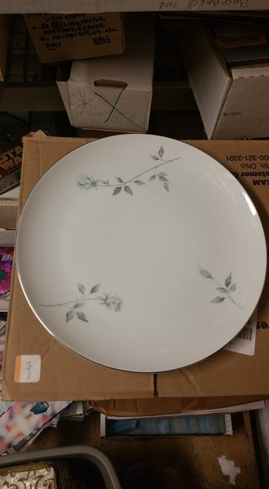 """102 by St Regis Fine China 12/"""" Oval Serving Platter 3 White Gold Trim"""