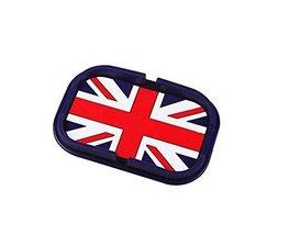 PANDA SUPERSTORE British Flag,Cartoon Silcon Non-Slip Car Mat Dashboard Phone Ho