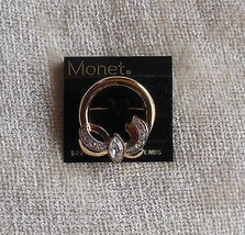 Monet Pin/Brooch Goldtone with Rhinestones Bow - $15.84