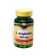 L-Arginine Spring Valley 50 Capsules 500 Mg - $7.19