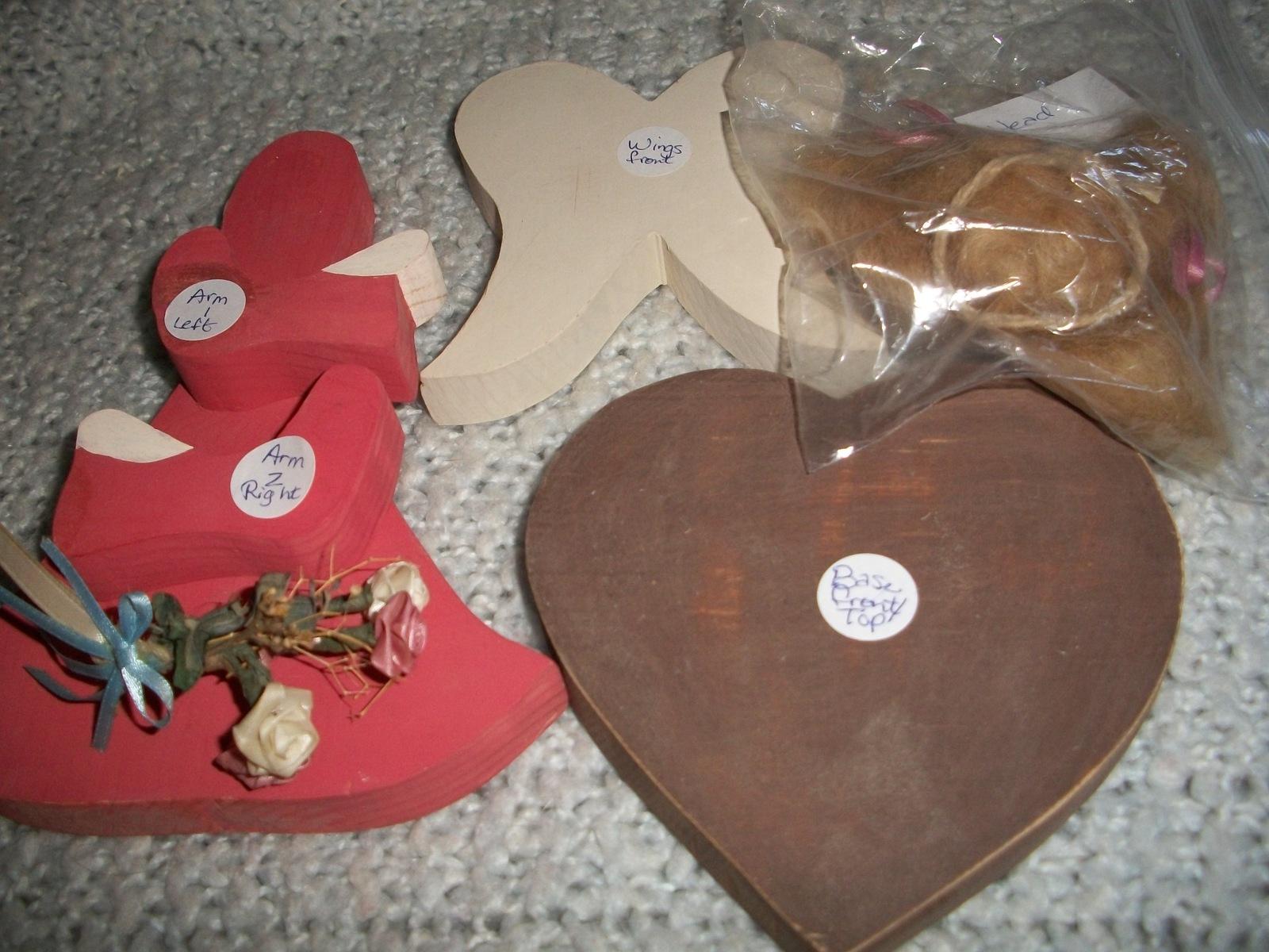 Pink Wooden Angel Craft Kit - $25.00