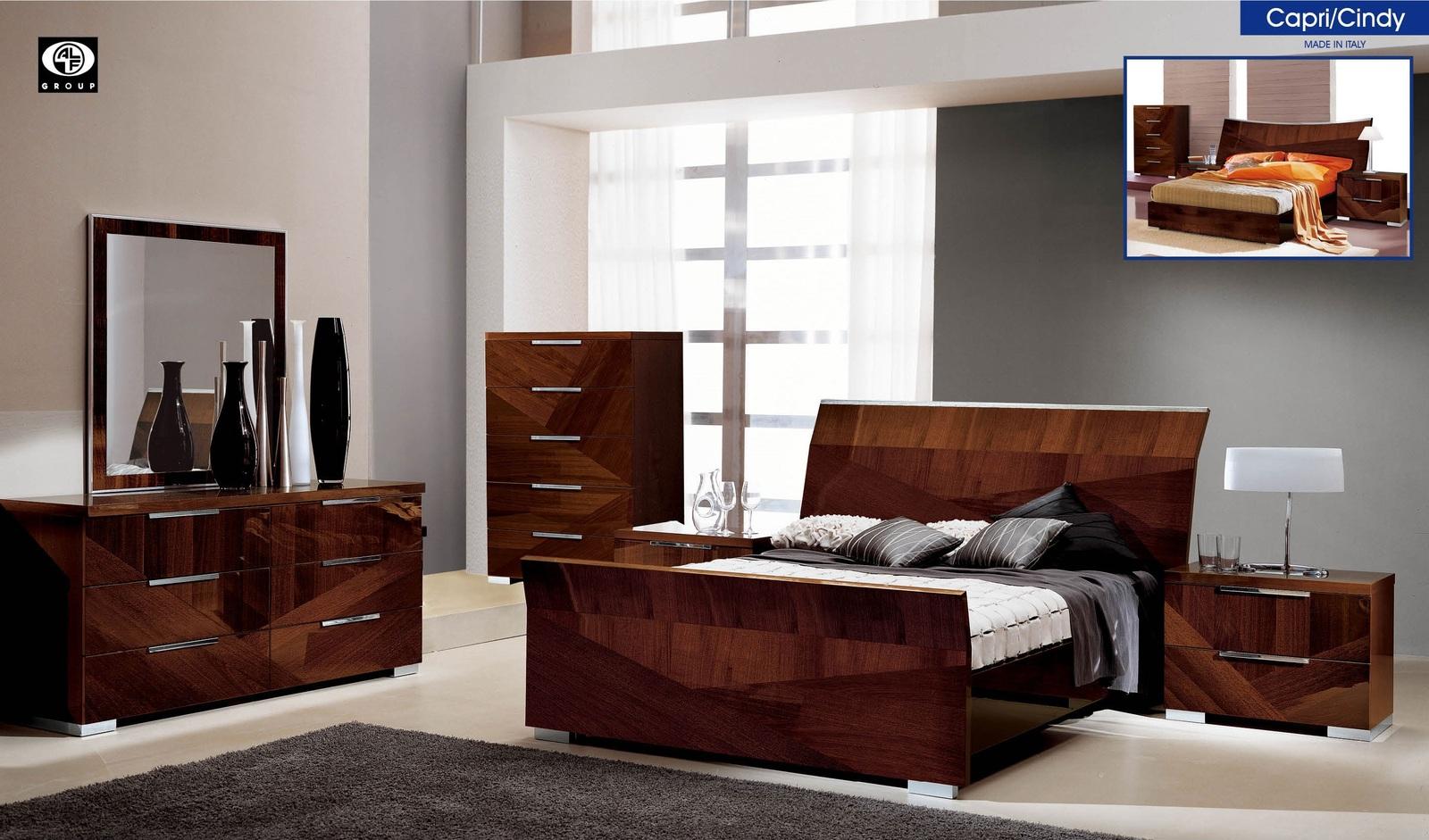 ESF Alf Capri Bedroom Set Capri or Cindy Queen Bed Modern Contemporary Italy