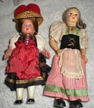 European Dresed Hard Plastic Vintage Dolls Lot of 2 - $6.00