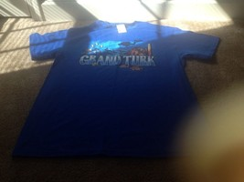 Delta Pro Weight Grand Turk Pro Reef Adult T Shirt NWT Sz Large Blue - $21.19