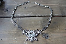 Rhinestone Bib Necklace - $19.80