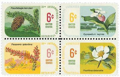 1969 6c International Botanical Congress, Block of 4 Scott 1376-79 Mint F/VF NH