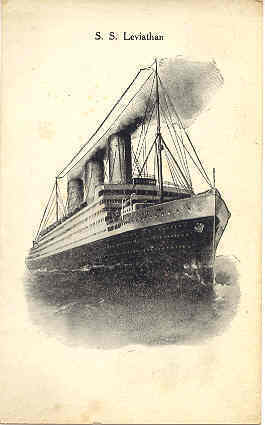 Primary image for Steam Ship Leviathan Vintage Post Card