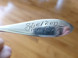 Estate SHELDON IOWA IA Wallace Sterling Silver Souvenir Spoon - $29.99