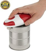 Can Opener Automatic Electric Red Edge Soft Smooth Bartelli Star Chef - $26.99