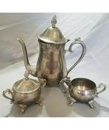 Vintage International Silver Company Silver Plated 3-Piece Tea/Coffee Se... - $20.00