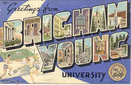 Brigham Young University Vintage Post Card  - $5.00