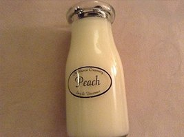 Milkhouse Creamery Soy Beeswax Scented Candle - Peach (8 Oz Milk Bottle) USA