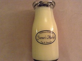 Jar Candle Organic Beeswax Soy Blend Made in USA Farmer's Market (Milkbottle ...