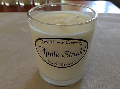 Milkhouse Creamery Candle Buttershot Votive: Apple Strudel 2.2 oz [Kitchen]