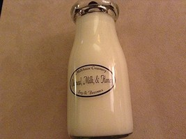 Milkhouse USA Made Beeswax Candle Milk Bottle: Oatmeal, Milk, & Honey [Kitchen]