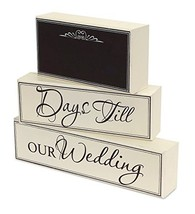 Wedding Countdown Chalkboard Plaques [Kitchen]