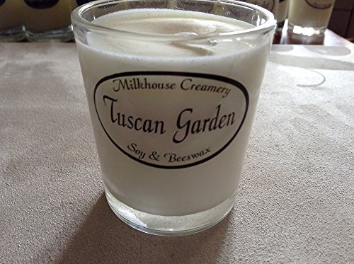 Milkhouse Creamery Soy Beeswax Scented Candle - Tuscan Garden (2.2 Oz Butter ...