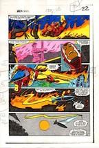 1983 Iron Man 177 original Marvel Comics color guide art page 22: 1980's... - $99.50