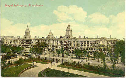 Primary image for Manchester Royal Infirmary vintage Post Card