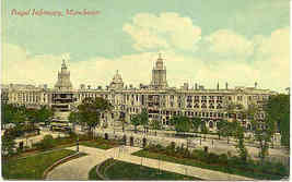 Manchester Royal Infirmary vintage Post Card - $6.00