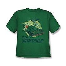 Simply Superheroes Mens batman classic 1966 tv to the batmobile kids t shirt ... - $15.99