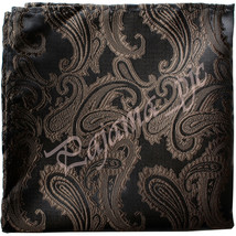 Paisley Handkerchief Only Pocket Square Hanky BROWN Wedding Party - $4.78