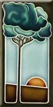 Art Nouveau style Ceramic decorative tile 3x6 Inches #3 - $7.50