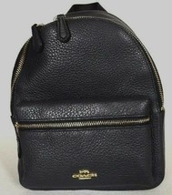 New Coach 28995 mini Charlie Pebble Leather small Backpack Midnight - $109.00