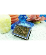 Victorian Horseback riding Match Book Box Cover Enamel display w Candle ... - $34.65