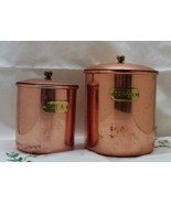 Vintage COPPER Canisters // Coffee & Tea Canisters French Country Cottag... - $16.00