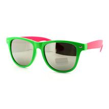 Fashion Sunglasses Classic Square 2-tone Color Frame Silver Mirror Lens - $9.95