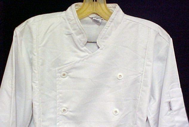 White Chef Coat CIA Culinary Institute America XL New Style 9601 image 2