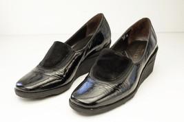 Sesto Meucci Spree 5.5 Black Wedge Pumps Women's Shoe - $68.00