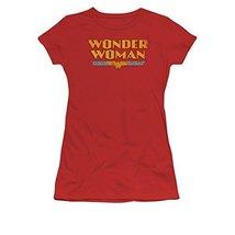 Simply Superheroes Womens wonder woman name baby tee Juniors Large - $21.99