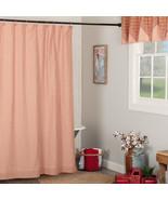Sawyer Mill Red Ticking Stripe Shower Curtain Vhc Brands Farmhouse Bath  - $49.95