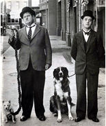 Laurel and Hardy TKK Vintage 11X14 BW TV Memorabilia Photo - $13.95
