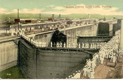 Primary image for Gatun Lock Panama Canal post card