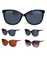 SA106 Wire Metal Temple Tip Oversize Cat Eye Horn Rim Sunglasses - $12.95