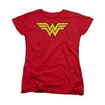 Simply Superheroes Womens wonder woman distressed logo juniors womens tee Jun... - $21.99