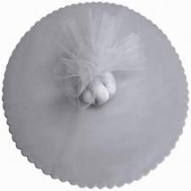 """50 Scalloped Tulle Circles 9"""" Wedding Favor Wrap - Silver - $4.46"""