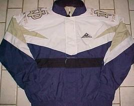 Notre Dame Fighting Irish NCAA Blue White Gold Full Zipper Button Nylon Jacket L - $74.25