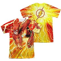 Simply Superheroes Mens the flash lightning dash sublimation mens t shirt 3XL - $30.99
