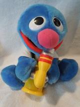 "Sesame Street Plush 8"" Grover Playing Saxophone 1999 Playschool - $15.99"